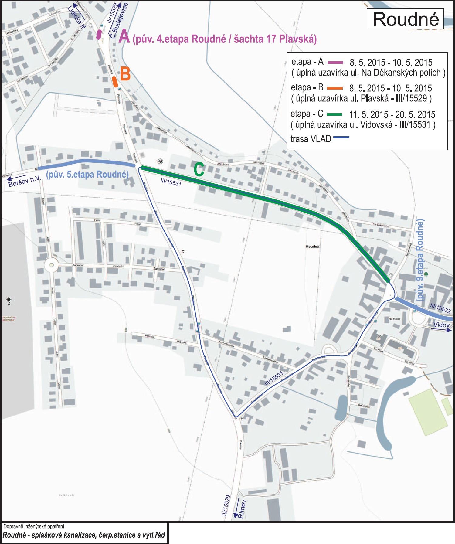 Stanovení místní a přechodné úpravy provozu na pozemních komunikacích -  Roudné 49ca7113c7cd9