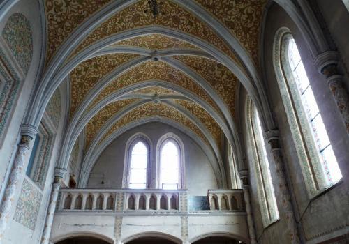 Kruchta kostela sv. Rodiny v ul. Karla IV. v Českých Budějovicích. Foto: Jitka Erbenová (21. dubna 2012)