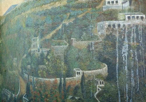 Zahrada Getsemanská a Olivová hora. Foto: Jitka Erbenová (21. dubna 2012)